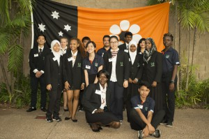 Students from Darwin High School volunteer at Seniors EXPO