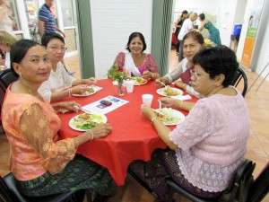 Cambodian seniors enjoyed a rare outing to share their cultural with others