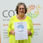 Chair of COTA Coomalie, Jan Jewell recognised for service to seniors