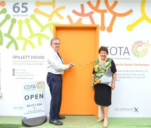 Patron His Honour the Honourable John Hardy OAM, Administrator of the Northern Territory and Mrs Hardy open Spillett House's new entrance
