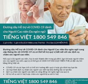 Multilingual Older Persons Covid-19 Support Line  Social Media Tile | Vietnamese